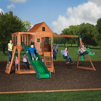 Backyard Discovery Pacific View All Cedar Swing Set - Walmart.com