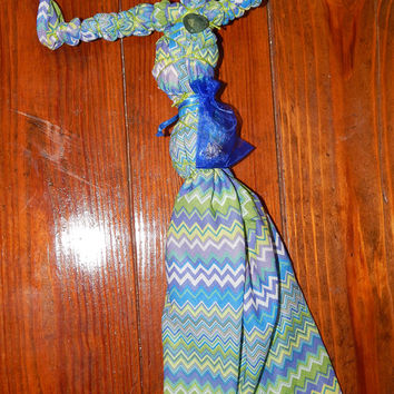 Lucky Naming Poppet in Cool Colors - Voodoo Doll for Attracting Luck and Good Fortune - Adornment Poppet - Luck Spell Fetch - OOAK