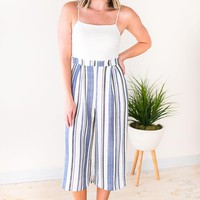 Mali Nautical Stripe Culotte Jumpsuit