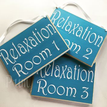 8x6 Relaxation Room Number Wood Sign
