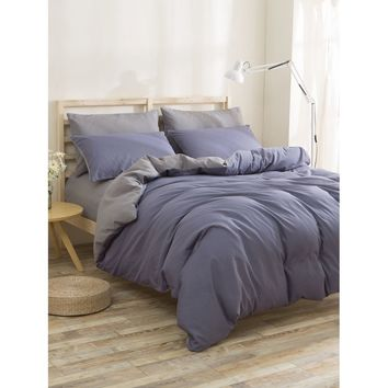 Color Block Duvet Cover Set