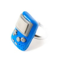 Blue Gameboy Ring - Geeky Ring
