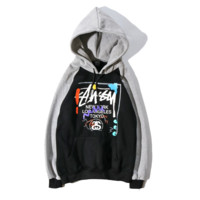 Stussy Casual Long Sleeve Hooded Sweater Jacket