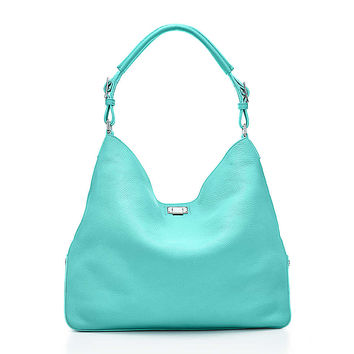 Tiffany & Co. - Kensington hobo in grain leather with metallic interior. More colors available.