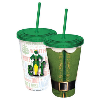 Elf - Outfit Acrylic Tumbler With Straw