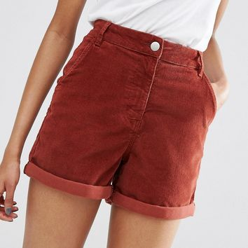 ASOS PETITE Cord Tailored Short