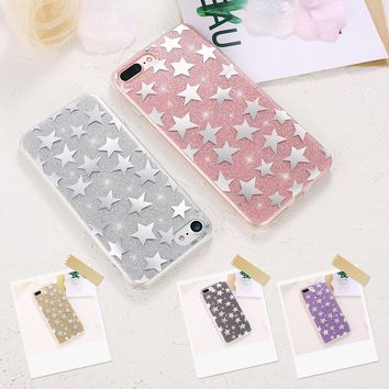 KISSCASE Glitter Case For Apple iPhone 6 6S Plus Case Cute Pretty Stars Ultra Thin Soft Silicon Back Shell For iPhone 8 7 Case