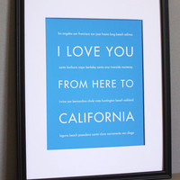 California Art Print, 8x10 | Luulla