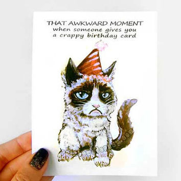 Best grumpy cat birthday cards products on wanelo funny birthday card grumpy cat card crappy birthday blank greeting card adult m4hsunfo