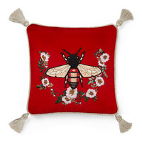 Gucci Bee Velvet Cushion