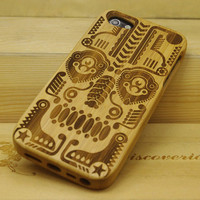 Totem Bamboo Hard Case Cover for Iphone 5
