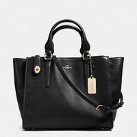 COACH Women Shopping Leather Tote Crossbody Satchel Shoulder Bag