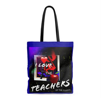 I Love the Teachers of the Cosmos AOP Tote Bag