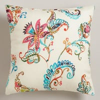White Antigua Outdoor Throw Pillow | World Market