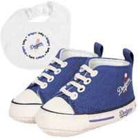 Los Angeles Dodgers MLB Infant Bib and Shoe Gift Set