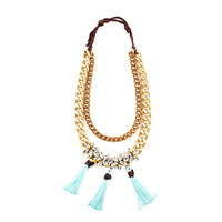 Daisy Teal Necklace