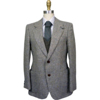1970s Don Robbie Herringbone Tweed Blazer 36S
