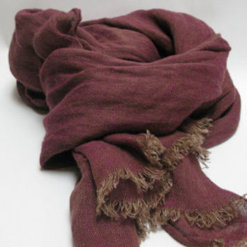 linen scarf, natural linen scarf for men or women , free shipping, made by mooshop