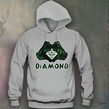 Diamond Weed Mickey hands Hooded Sweatshirt Funny and Music