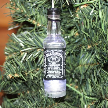 Mini Liqour Bottle Lighted Ornaments