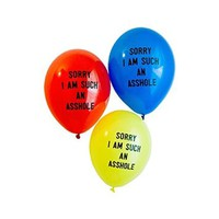 Dear Deer--Sorry I Am Such an Asshole Balloons for Birthday Party, Red Yellow Blue,20 Ct