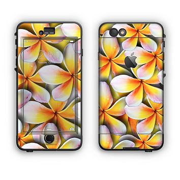 The Vibrant Yellow Flower Pattern Apple iPhone 6 LifeProof Nuud Case Skin Set
