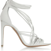 Burberry Shoes & Accessories | Multi-strap leather sandals | NET-A-PORTER.COM