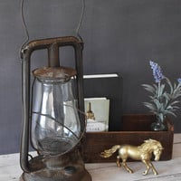 Paulls Leader No 0 Lantern/ Vintage Lantern/ Lantern Centerpiece/ Rail Road Lantern/ Lantern/ Farmhouse Decor/ Antique Lantern/ Rustic Decor