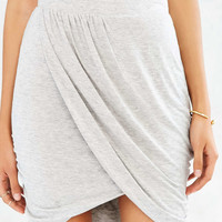 Silence + Noise Knit Wrap-Front Mini Skirt - Urban Outfitters