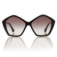 Miu Miu Black Metal Arm Sunglasses | Eyewear by Miu Miu | Liberty.co.uk