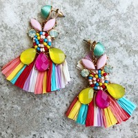 Pretty As A Picture Earrings: Multi