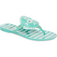 JACK ROGERS 'Georgica' Jelly Flip Flop French Seafoam/White $39