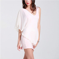One-Shoulder Shawl Bodycon Dress