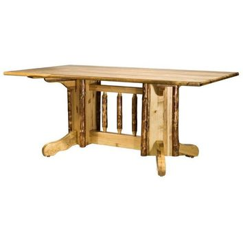 Montana Woodworks - Glacier Country Collection Double Pedestal Dining Table