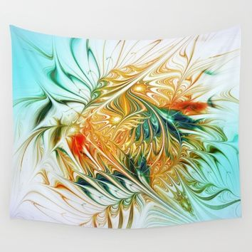 Gently Moving Waves Wall Tapestry by Klara Acel