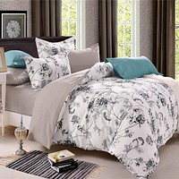 Luxury Country Style Comforter Bedding Sets Country Quilts Cover Cotton Queen Size/King Size Silk Bedding Set