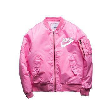 2016 Hip-Hop Street Kanye West Ma1 Pink Bomber Jacket Homme Yeezy Season 3 Air Force