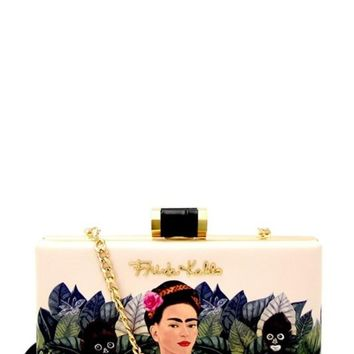 Frida Kahol Jungle Hard Clutch
