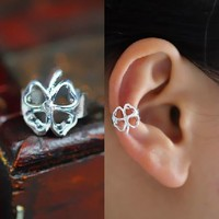 Lucky Clover Ear Cuff (Single,No Piercing)
