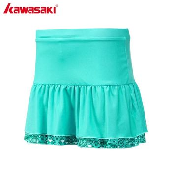 KAWASAKI Brand SK-172702 Blue Pleated Tennis Skorts Quick Dry Yoga Jogging Badminton Skirt Skort Sports Clothing Sportswear