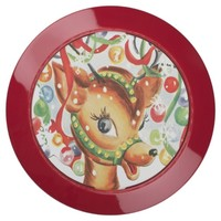 Vintage Retro Christmas Reindeer Confetti USB Charging Station
