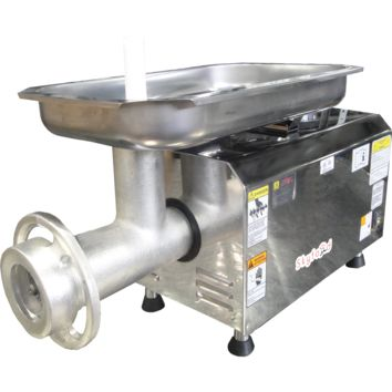 Commercial Kitchen PSE-32HD Heavy Duty Countertop Electric Meat Grinder #32 Dual Cut