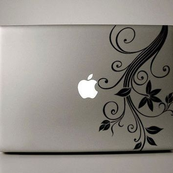 Lovely Gladys - Macbook Decals floral design  mac decal macbook sticker macbook pro decal laptop decal