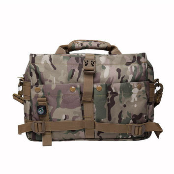 Men Outdoor Tactical Sport Travel Oxford Camera Multifunctional Crossbody Bag Handbag