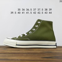 Kuyou Fa19630  Converse All Star 1970s Green High Top Canvas Shoes