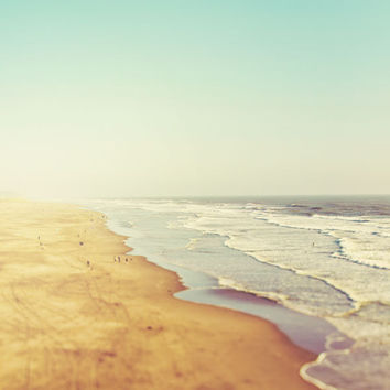 Summer Beach Photography, California, Pacific Ocean, Sea, Vacation, Nautical, Sand, Blue, Pastel - California Dreamin'