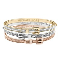 Michael Kors Pave Buckle Bangle Bracelet | Bloomingdale's