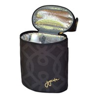 JJ Cole Bottle Cooler in Black & Gold