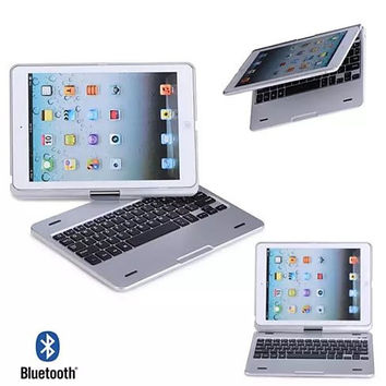 iPad Air or Mini Swiveling Hard Case With Bluetooth Keyboard