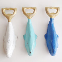 Whale Bottle Opener, Pick Your Color, Customize Beer Bottle Opener, Summer Colors, Nautical Beach Bar